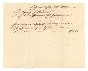 Primary view of object titled '[Document regarding the passage of Act No. 18, February 18, 1850]'.