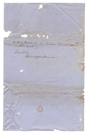 Primary view of object titled '[Cover sheet for Castro's Correspondence]'.