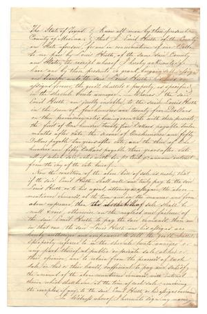 Primary view of object titled '[Document regarding an agreement between Louis Huth and Emil Huth, January 5, 1858]'.