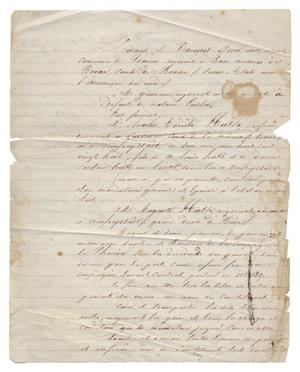 Primary view of object titled '[Document granting Auguste Huth power of attorney for Charles Emile Huth]'.