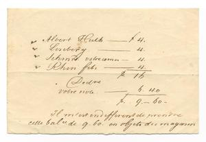 Primary view of object titled '[List of names and financial information]'.
