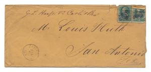 Primary view of object titled '[Envelope addressed to Mr. Louis Huth, July 6]'.