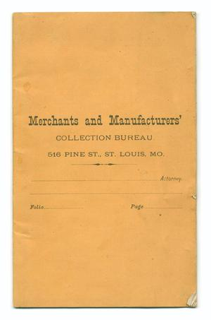 Primary view of object titled 'Merchants and Manufacturers' Collection Bureau.'.