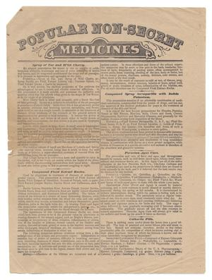 Primary view of object titled 'Popular Non-Secret Medicines'.
