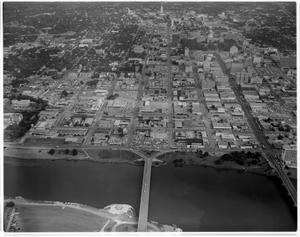 Primary view of object titled 'Aerial View of Town Lake'.