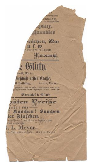 Primary view of object titled '[Torn page, in German]'.