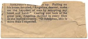 Primary view of object titled '[Clipping regarding Adolphus and Angelina's engagement]'.