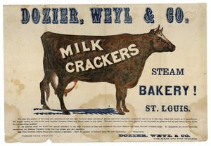Primary view of object titled '[Advertisement for milk crackers]'.
