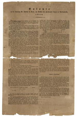 Primary view of object titled '[Document regarding the founding of Castroville]'.