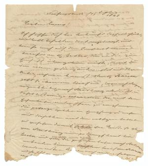 Primary view of object titled '[Letter from Ludwig Huth to Ferdinand Louis Huth, September 15, 1843]'.