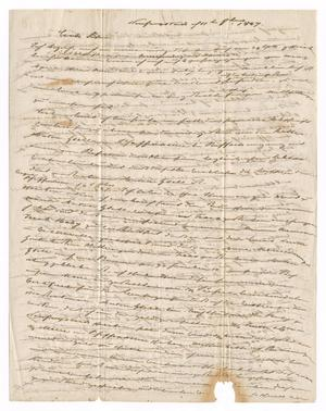 Primary view of object titled '[Letter from Ludwig Huth to Ferdinand Louis and Albert Huth, October 11, 1847]'.