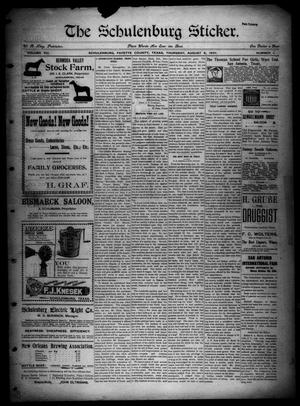 The Schulenburg Sticker (Schulenburg, Tex.), Vol. 8, No. 1, Ed. 1 Thursday, August 8, 1901