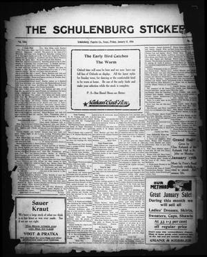 Primary view of object titled 'The Schulenburg Sticker (Schulenburg, Tex.), Vol. 22, No. 16, Ed. 1 Friday, January 14, 1916'.