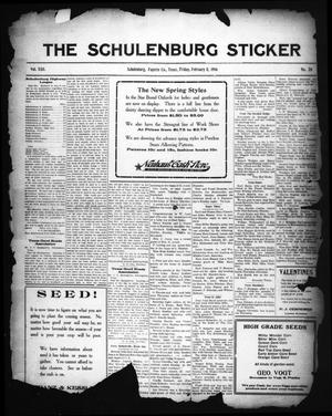 Primary view of object titled 'The Schulenburg Sticker (Schulenburg, Tex.), Vol. 22, No. 20, Ed. 1 Friday, February 11, 1916'.