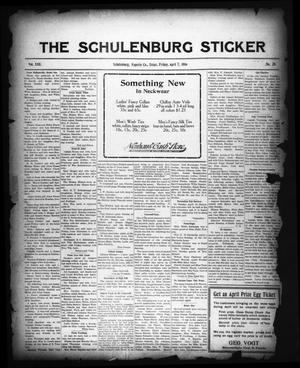 Primary view of object titled 'The Schulenburg Sticker (Schulenburg, Tex.), Vol. 22, No. 28, Ed. 1 Friday, April 7, 1916'.