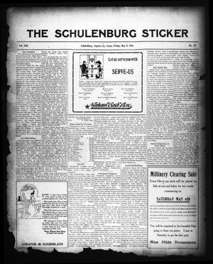 Primary view of object titled 'The Schulenburg Sticker (Schulenburg, Tex.), Vol. 22, No. 32, Ed. 1 Friday, May 5, 1916'.
