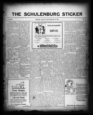 Primary view of object titled 'The Schulenburg Sticker (Schulenburg, Tex.), Vol. 22, No. 33, Ed. 1 Friday, May 12, 1916'.