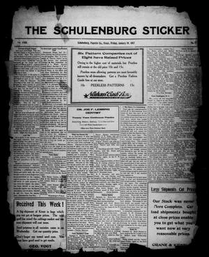 Primary view of object titled 'The Schulenburg Sticker (Schulenburg, Tex.), Vol. 23, No. 17, Ed. 1 Friday, January 19, 1917'.