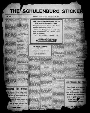 The Schulenburg Sticker (Schulenburg, Tex.), Vol. 23, No. 18, Ed. 1 Friday, January 26, 1917
