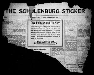Primary view of object titled 'The Schulenburg Sticker (Schulenburg, Tex.), Vol. 23, No. 20, Ed. 1 Friday, February 9, 1917'.