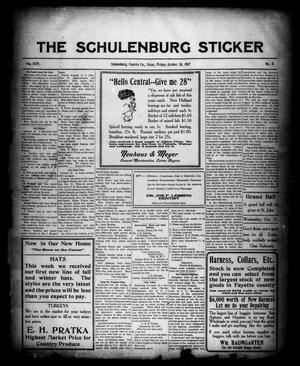 Primary view of object titled 'The Schulenburg Sticker (Schulenburg, Tex.), Vol. 24, No. 5, Ed. 1 Friday, October 26, 1917'.