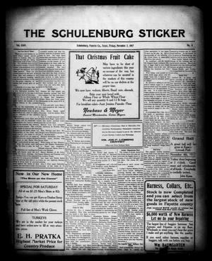 Primary view of object titled 'The Schulenburg Sticker (Schulenburg, Tex.), Vol. 24, No. 6, Ed. 1 Friday, November 2, 1917'.