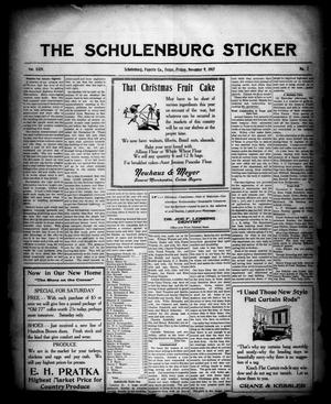 Primary view of object titled 'The Schulenburg Sticker (Schulenburg, Tex.), Vol. 24, No. 7, Ed. 1 Friday, November 9, 1917'.