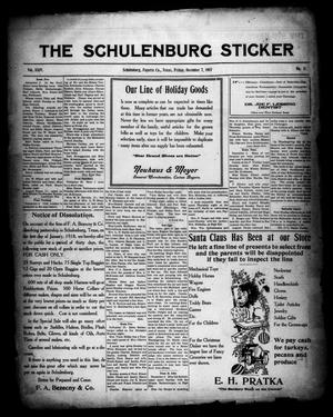 Primary view of object titled 'The Schulenburg Sticker (Schulenburg, Tex.), Vol. 24, No. 11, Ed. 1 Friday, December 7, 1917'.
