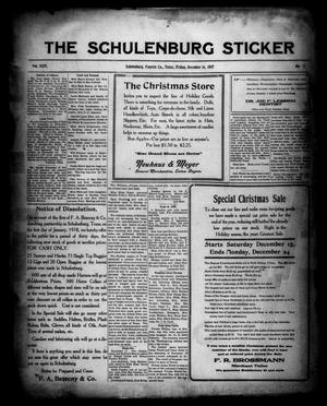 Primary view of object titled 'The Schulenburg Sticker (Schulenburg, Tex.), Vol. 24, No. 12, Ed. 1 Friday, December 14, 1917'.