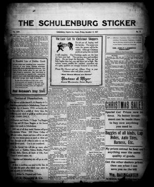 Primary view of object titled 'The Schulenburg Sticker (Schulenburg, Tex.), Vol. 24, No. 13, Ed. 1 Friday, December 21, 1917'.