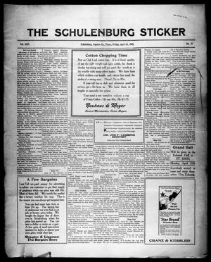 Primary view of object titled 'The Schulenburg Sticker (Schulenburg, Tex.), Vol. 24, No. 31, Ed. 1 Friday, April 26, 1918'.