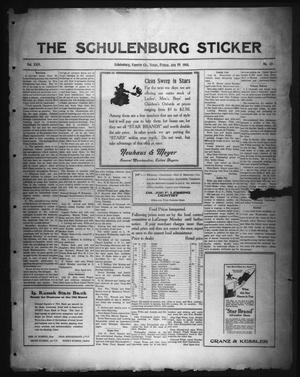 Primary view of object titled 'The Schulenburg Sticker (Schulenburg, Tex.), Vol. 24, No. 43, Ed. 1 Friday, July 19, 1918'.