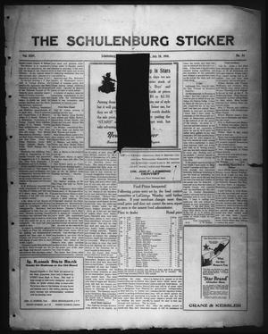 Primary view of object titled 'The Schulenburg Sticker (Schulenburg, Tex.), Vol. 24, No. 44, Ed. 1 Friday, July 26, 1918'.