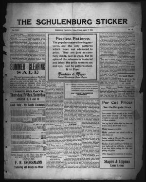 Primary view of object titled 'The Schulenburg Sticker (Schulenburg, Tex.), Vol. 24, No. 46, Ed. 1 Friday, August 9, 1918'.