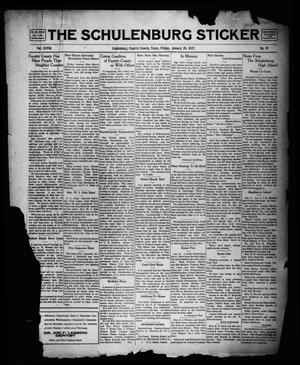 Primary view of object titled 'The Schulenburg Sticker (Schulenburg, Tex.), Vol. 28, No. 19, Ed. 1 Friday, January 20, 1922'.