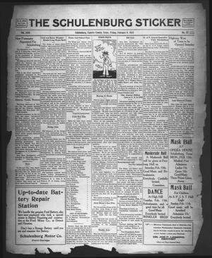 The Schulenburg Sticker (Schulenburg, Tex.), Vol. 29, No. 22, Ed. 1 Friday, February 9, 1923