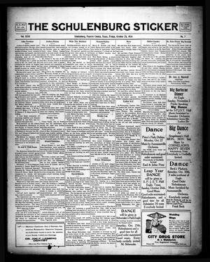 Primary view of object titled 'The Schulenburg Sticker (Schulenburg, Tex.), Vol. 31, No. 7, Ed. 1 Friday, October 24, 1924'.
