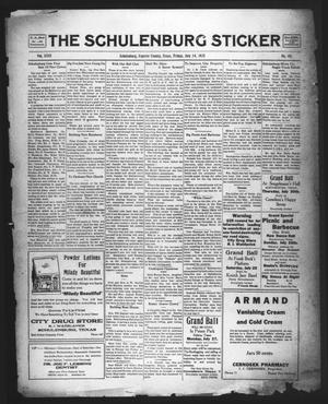 Primary view of object titled 'The Schulenburg Sticker (Schulenburg, Tex.), Vol. 31, No. 46, Ed. 1 Friday, July 24, 1925'.