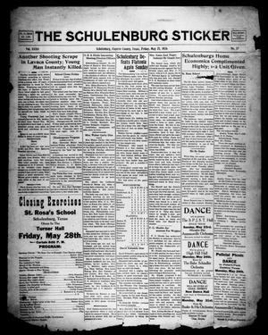 Primary view of object titled 'The Schulenburg Sticker (Schulenburg, Tex.), Vol. 32, No. 37, Ed. 1 Friday, May 21, 1926'.