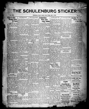 Primary view of object titled 'The Schulenburg Sticker (Schulenburg, Tex.), Vol. 32, No. 39, Ed. 1 Friday, June 4, 1926'.