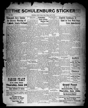 Primary view of object titled 'The Schulenburg Sticker (Schulenburg, Tex.), Vol. 32, No. 41, Ed. 1 Friday, June 18, 1926'.