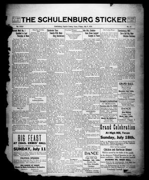 Primary view of object titled 'The Schulenburg Sticker (Schulenburg, Tex.), Vol. 32, No. 44, Ed. 1 Friday, July 9, 1926'.