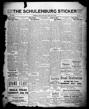 Primary view of object titled 'The Schulenburg Sticker (Schulenburg, Tex.), Vol. 32, No. 45, Ed. 1 Friday, July 16, 1926'.