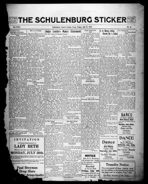 Primary view of object titled 'The Schulenburg Sticker (Schulenburg, Tex.), Vol. 32, No. 46, Ed. 1 Friday, July 23, 1926'.