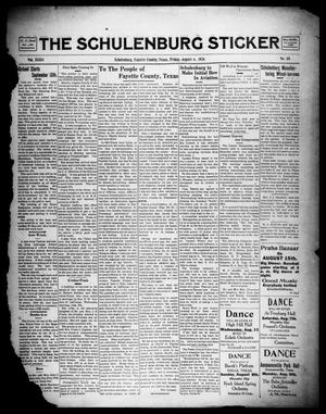 Primary view of object titled 'The Schulenburg Sticker (Schulenburg, Tex.), Vol. 32, No. 48, Ed. 1 Friday, August 6, 1926'.