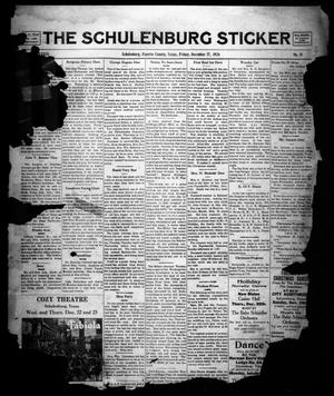 Primary view of object titled 'The Schulenburg Sticker (Schulenburg, Tex.), Vol. 33, No. 15, Ed. 1 Friday, December 17, 1926'.