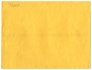 Primary view of object titled '[Yellow Manila Envelope]'.