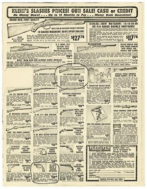 [Klein's Sporting Goods Advertisement Photocopies]