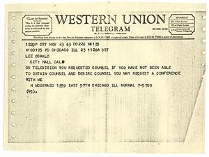 Twelve Photocopied Telegrams