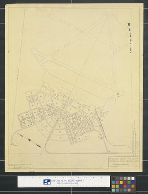 Primary view of object titled 'Midland Airfield, Texas: Advanced Twin Engine School, General Layout'.